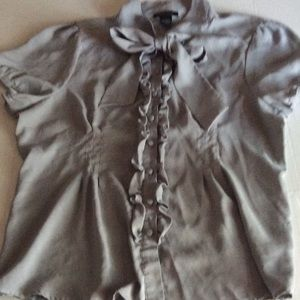 BCBG MAXAZRIA BLOUSE SIZE XL BUTTON FRONT